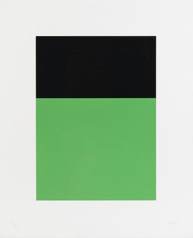 Ellsworth Kelly-Black/Green from Series of Ten Lithographs-1970