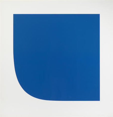 Ellsworth Kelly-Blue II from Second Curve series-1975