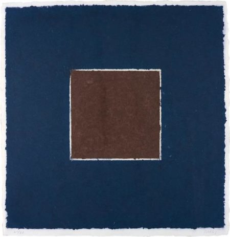 Ellsworth Kelly-Coloured Paper Image XX (Brown Square with Blue), from Colored Paper Images-1976