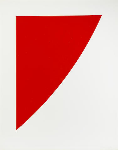 Ellsworth Kelly-Red Curve from Second Curve series-1975