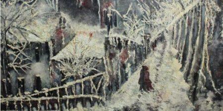 Emile Boyer - Le Lapin Agile sous la neige, photo credits - Drouot Online