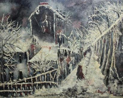 Emile Boyer-Le Lapin Agile sous la neige-