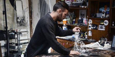 Eric Lacan - artist in his studio