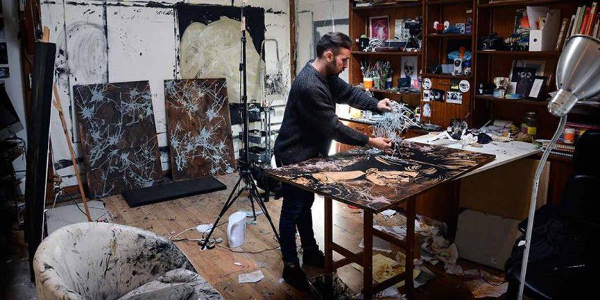 Eric Lacan in his studio