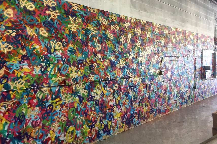 Eric Mancini - Mother Beverage Mural paint, contact 2016