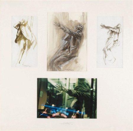 Ernest Pignon-Ernest-Composition No.46 (Cabine Telephonique)-1997