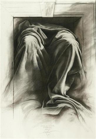 Ernest Pignon-Ernest-Etude Pour la Porte de Demeter, Napoli-1990
