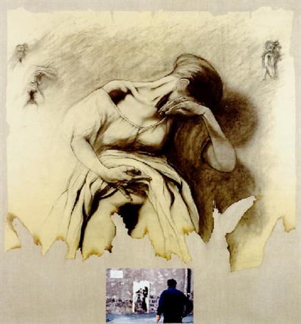 Ernest Pignon-Ernest-Etude (Serie des Virgiles)-1995