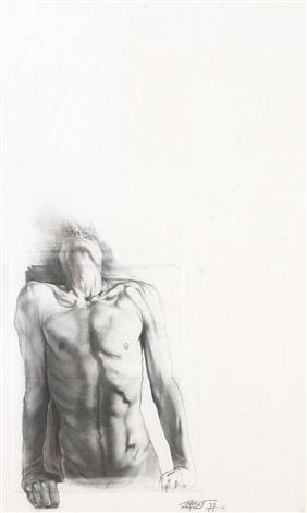 Ernest Pignon-Ernest-Homme s'appuyant a une fenetre-1977