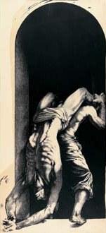 Ernest Pignon-Ernest-Sans titre, Serie de Naples-1992