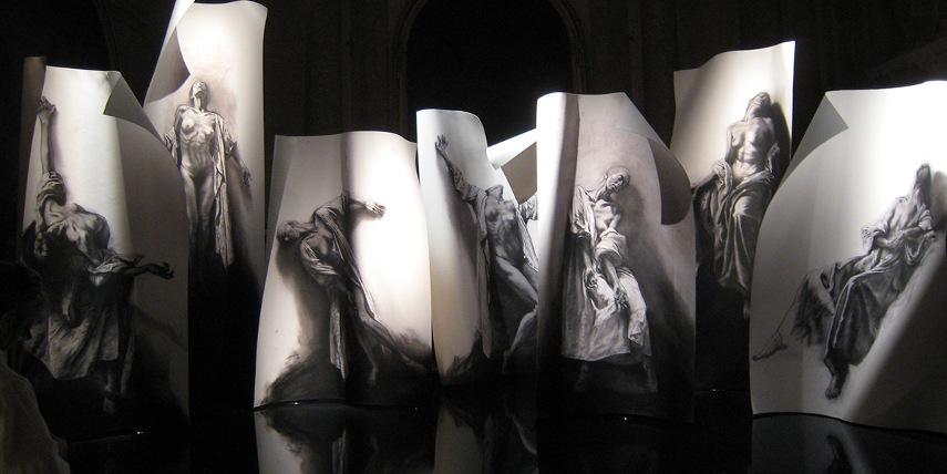 Ernest Pignon-Ernest - Untitled - une plus cette 2014 - 2015 - 2016 Paris galerie in site of Nice