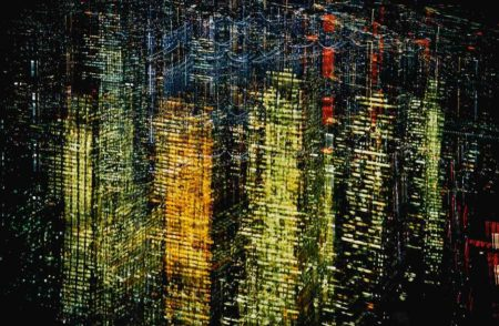 Ernst Haas-Lights Of New York City, Usa-1970