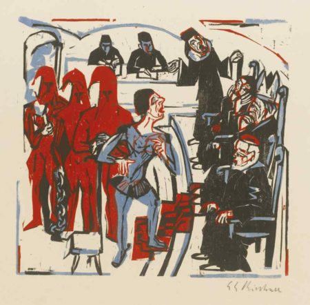 Ernst Ludwig Kirchner-Gerichtsszene Aus Shaw'S Heiliger Johanna-1925