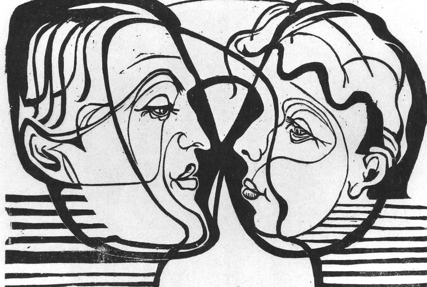 Ernst Ludwig Kirchner - Two Heads Looking at Each Other, 1930 - Image via wikiartorg