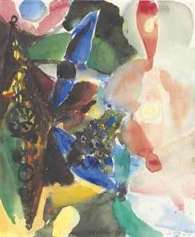 Ernst Wilhelm Nay-Composition-1964