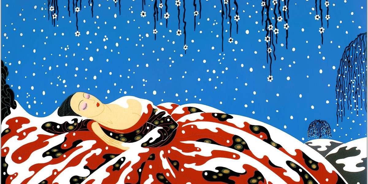 Erte - The Beading Yogini, 1990 - Image via pinterestcom print folies 1990 1892 petersburg