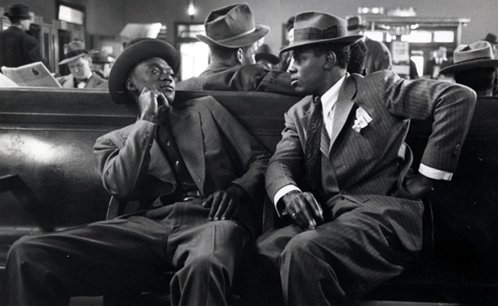Esther Bubley - Greyhound Bus Terminal, New York City, 1947, photography, black and white