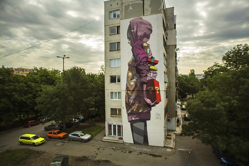 mural paint richmond Etam Cru - Surprise (Sofia, Bulgaria), 2013