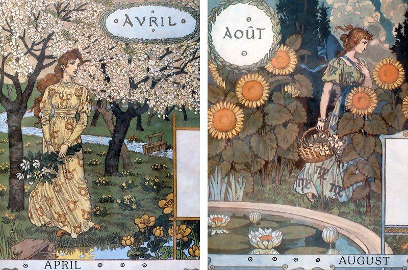 Eugène Grasset available works print book new french garden salon poster century