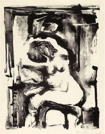 Eva Hesse-Untitled (Nude)-1954