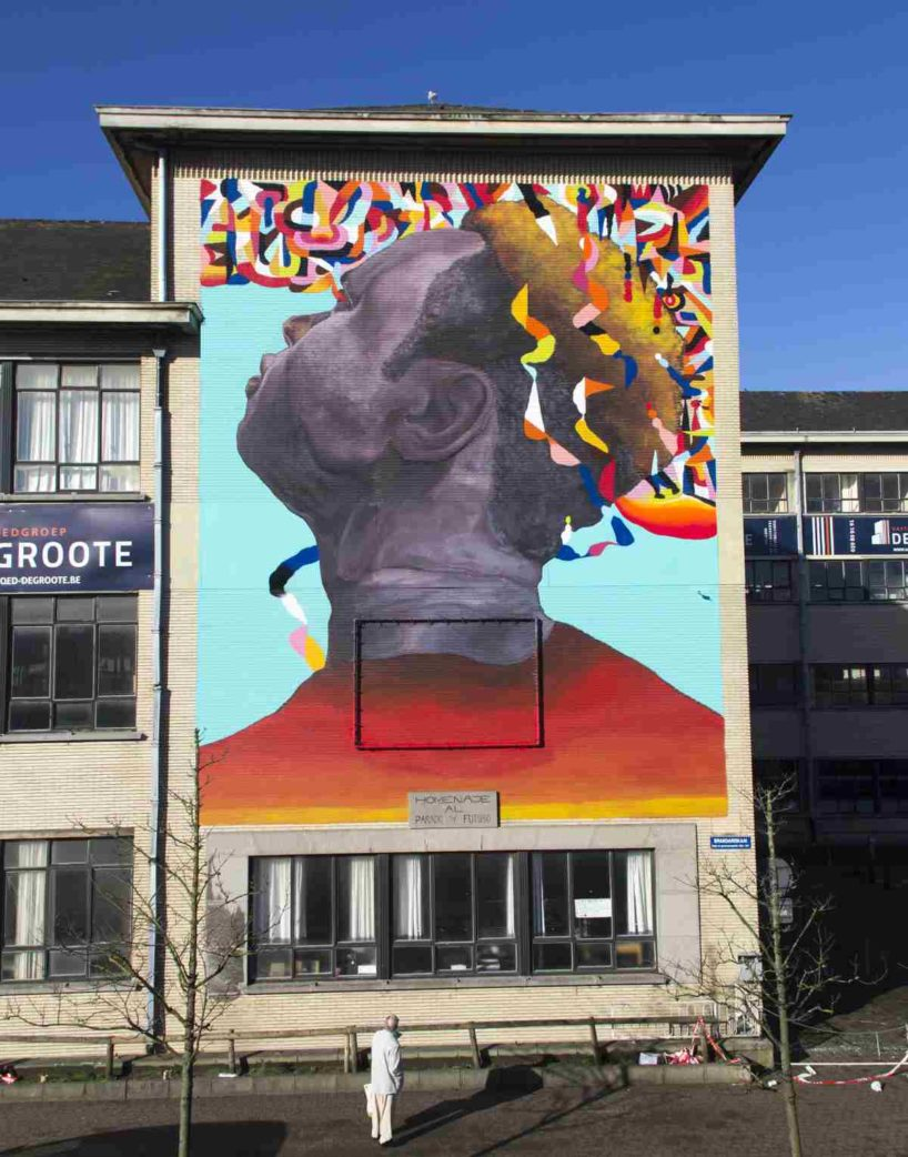 Ever - Tribute to past and future, mural in Oostende, Belgium, 2016