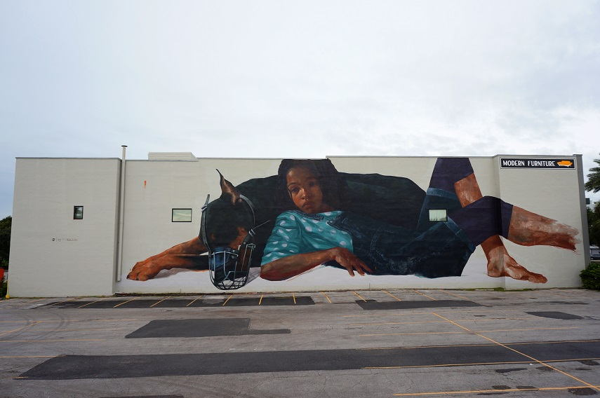Evoca1 - Through the Perils of our Youth, a Mural in St Petersburg, Florida, 2015