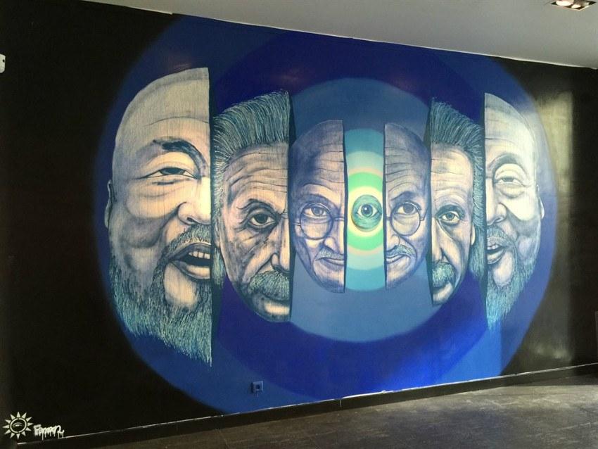 Fansack - Enter the Oeil, Gallery Liusawang in Paris, France, 2015