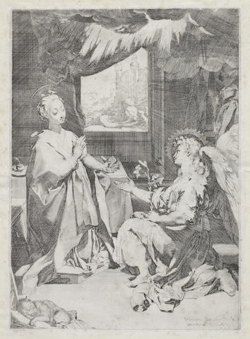 Federico Barocci-The Annunciation (Bartsch 1)-1585