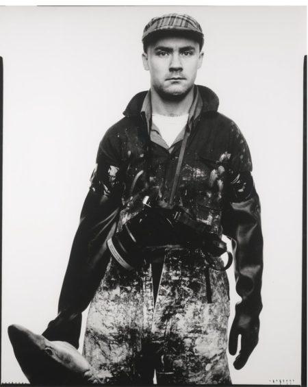 Fergus Greer-Damien Hirst With Shark-1994