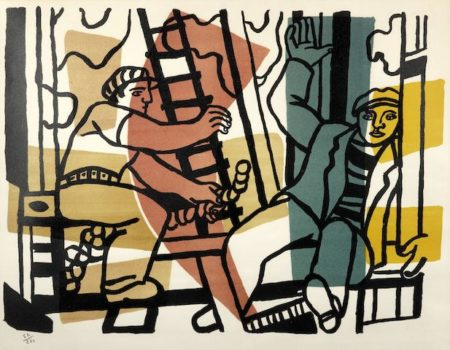 Fernand Leger-Les Constructeurs-1955