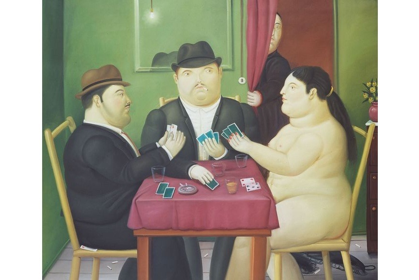 fernando botero's oil paintings of dancers are in various museums