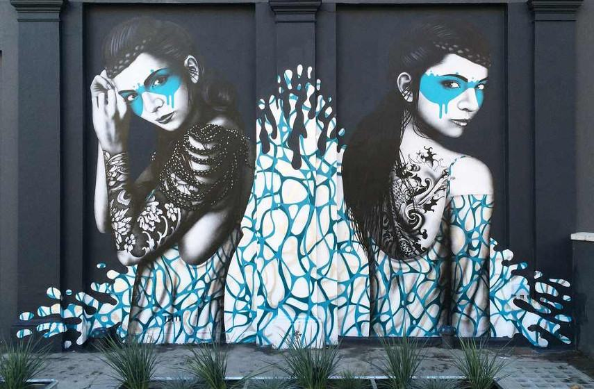 home prints crime Fin DAC - Splash #2, 2014, Elgin Avenue in Maida Vale, West London