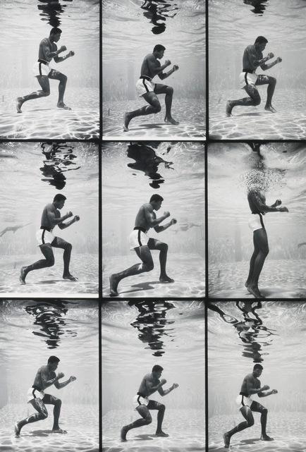 Flip Schulke-Ali Underwater (Grid)-1961