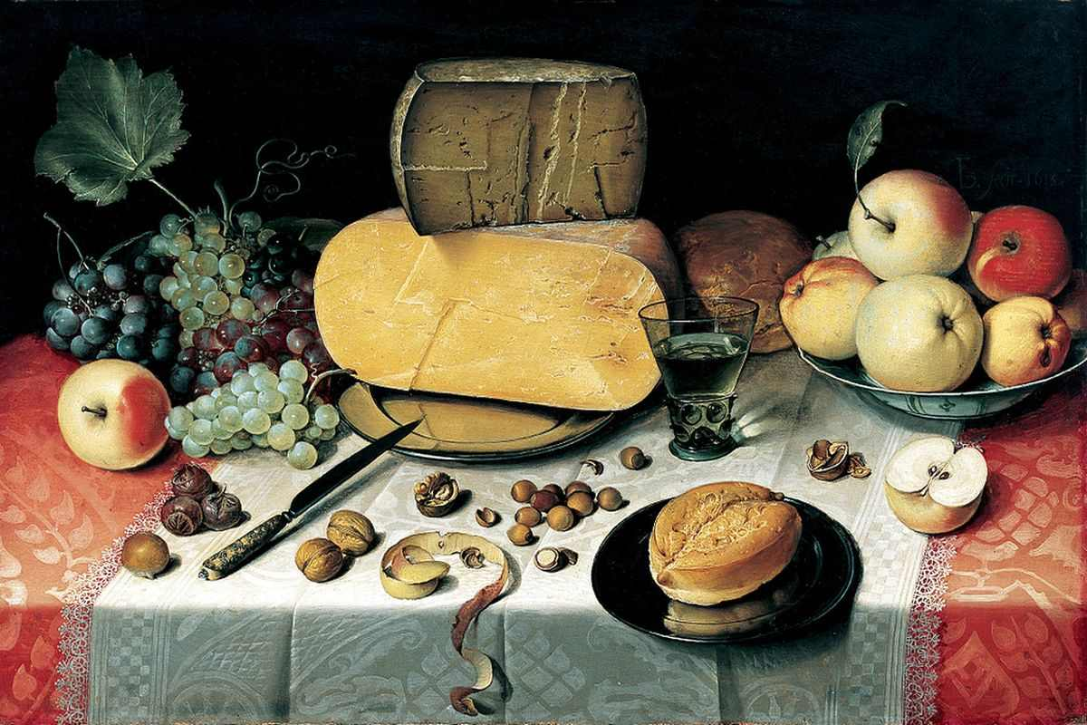 The fascination with food in art history widewalls for Artistic cuisine menu