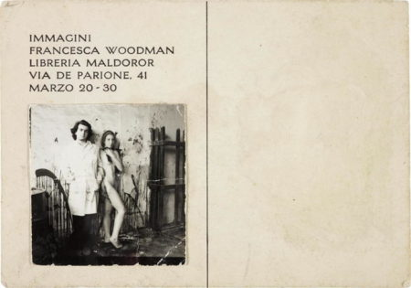 Francesca Woodman-Francesca Woodman and Giuseppe Gallo, Postcard invitation for Immagini exhibition-1978