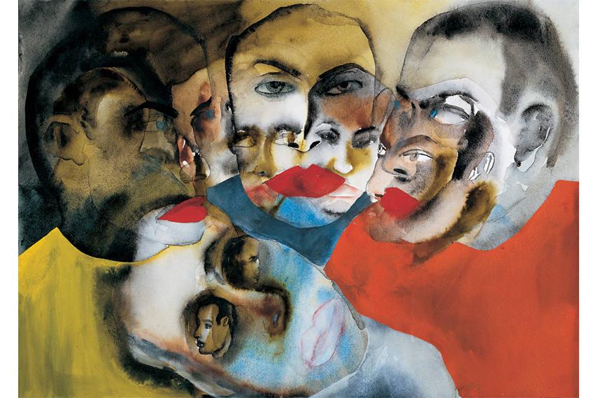 Francesco Clemente - Ritz, 1983 - Courtesy of Galerie Bruno Bischof berger, Zurich - Image via Artinamericamagazine.com