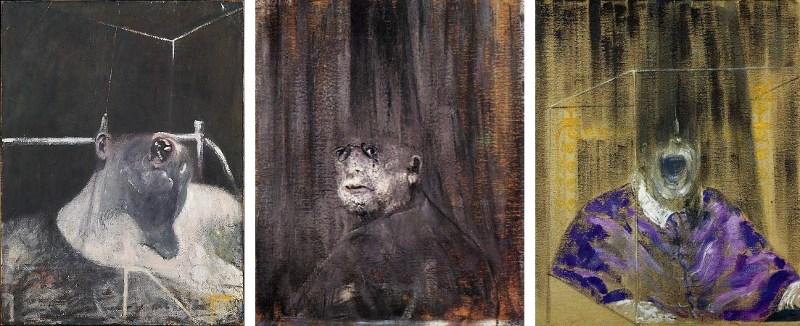 Francis Bacon - Head I, Head III and Head IV, 1948-9 - Copyright Estate of Francis Bacon