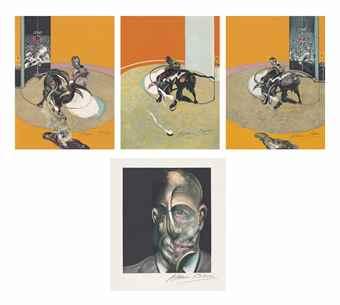 Miroir de la Tauromachie (The Complete Portfolio of Four Lithographs in colors)-1990