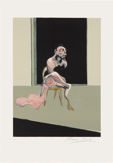 Francis Bacon-Triptyque Aout 1972 (After, Triptych August 1972): Left Panel-1989