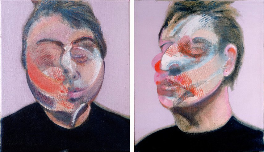 Francis Bacon - Two Studies for-a Self Portrait, 1970