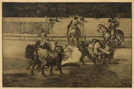 Francisco Jose de Goya y Lucientes-Banderillas de Fuego, Plate 31 from La Tauromaquia-1876