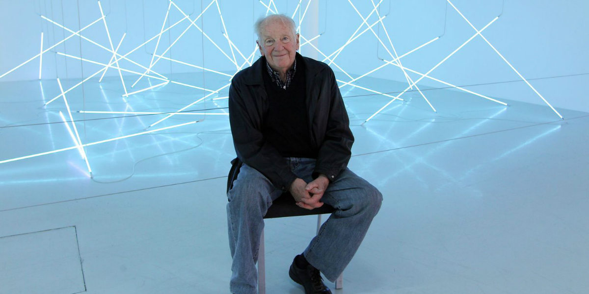 Francois Morellet - Artist portrait, photo credits lexpress.fr