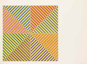 Frank Stella-Sidi Ifni, from Hommage a Picasso-1972