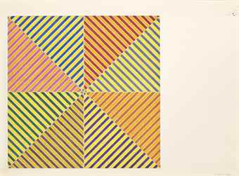 Frank Stella-Sidi Ifni, from: Hommage a Picasso-1974