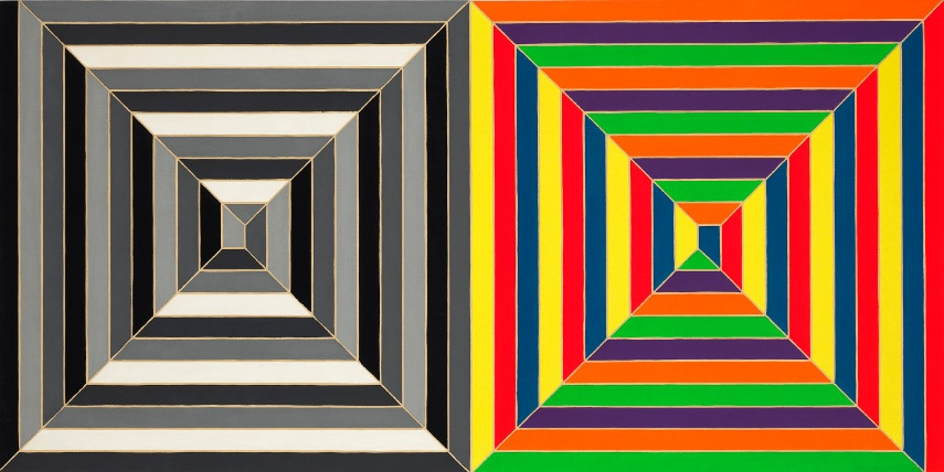 Frank Stella - Untitled series of works - Image via arrestedmotioncom