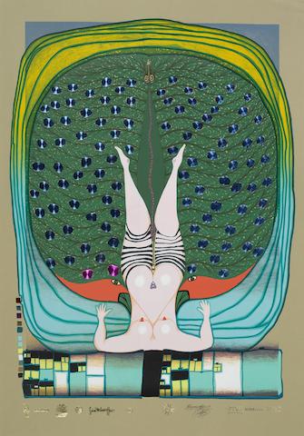 Friedensreich Hundertwasser-Homage a Schroder-Sonnenstern-1972
