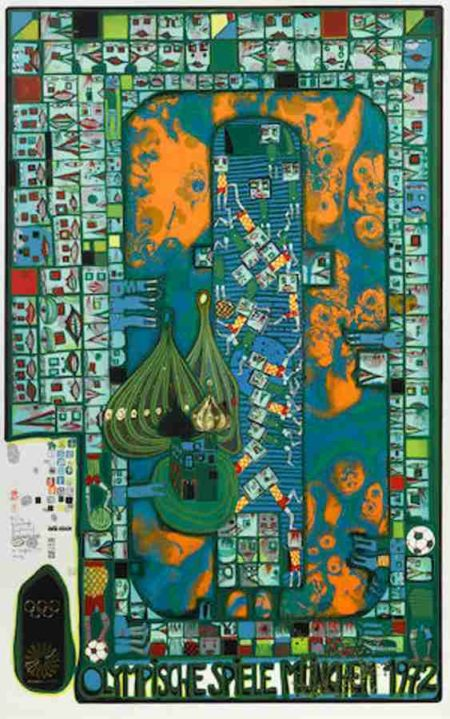 Friedensreich Hundertwasser-Olympic Games Munich-1971
