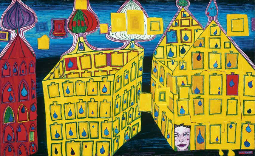 Friedensreich Hundertwasser - Untitled, Image via quotesgramcom hundertwasser's exhibition hundertwasser austrian austria house zealand contact 1928 home hundertwasser