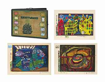 Friedensreich Hundertwasser-Look at it on a rainy Day-1972