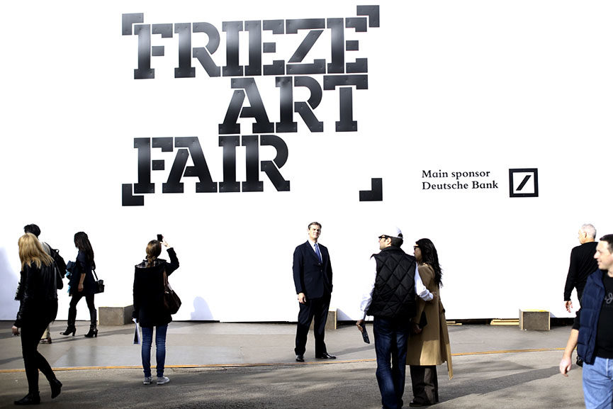 Frieze london 2015 13th edition of the celebrated art for Craft fair nyc 2017